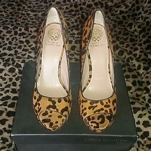 Women's Vince Camuto Leopard Print Heels